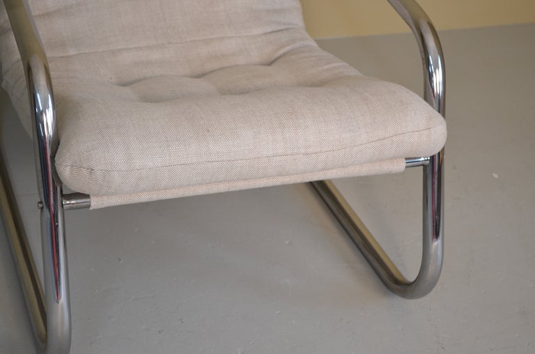 Lounge Chair with Chrome Tube Frame 4