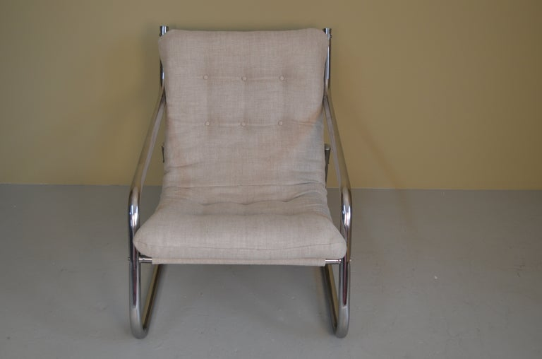 Lounge Chair with Chrome Tube Frame 8