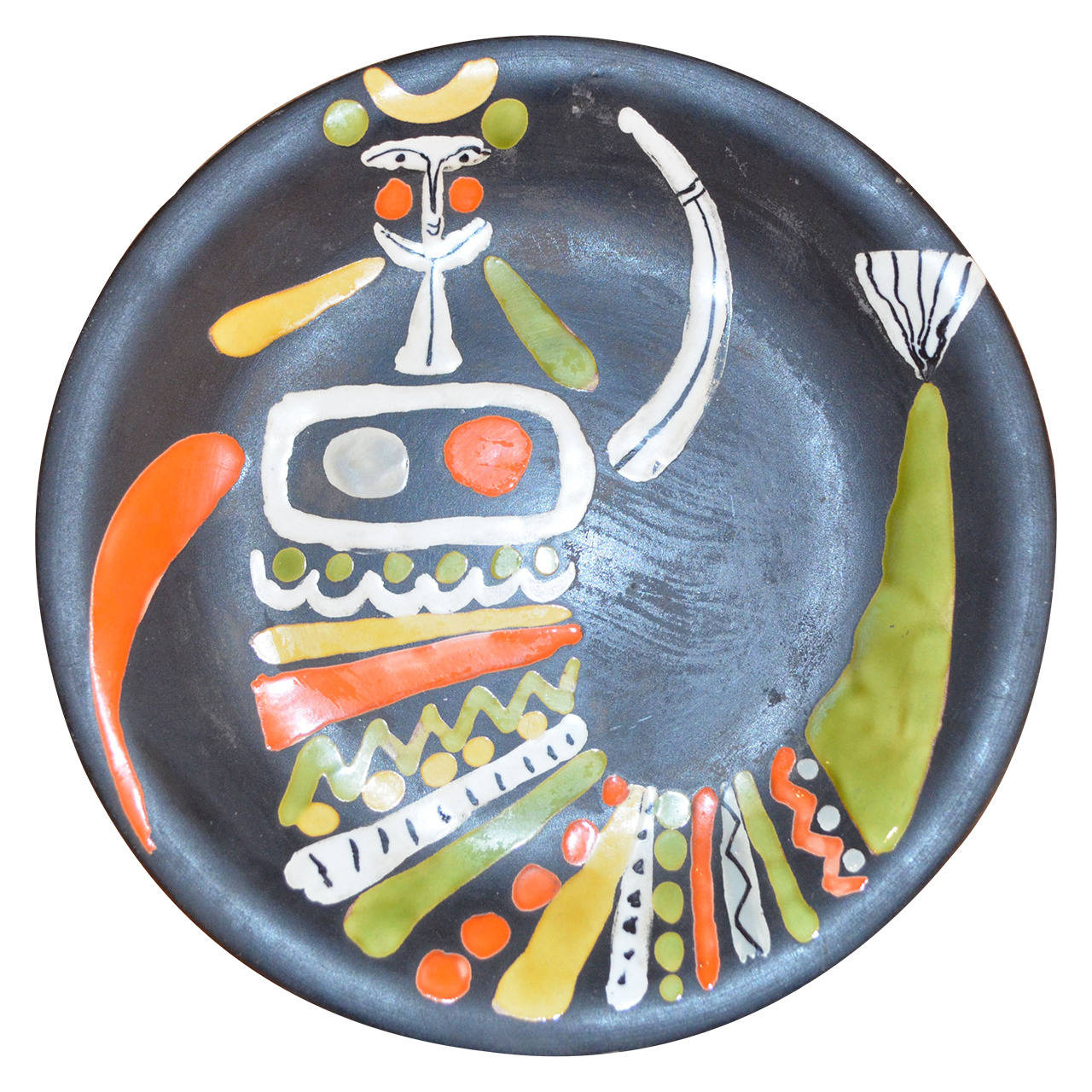 Decorative Ceramic Plate by Roger Capron