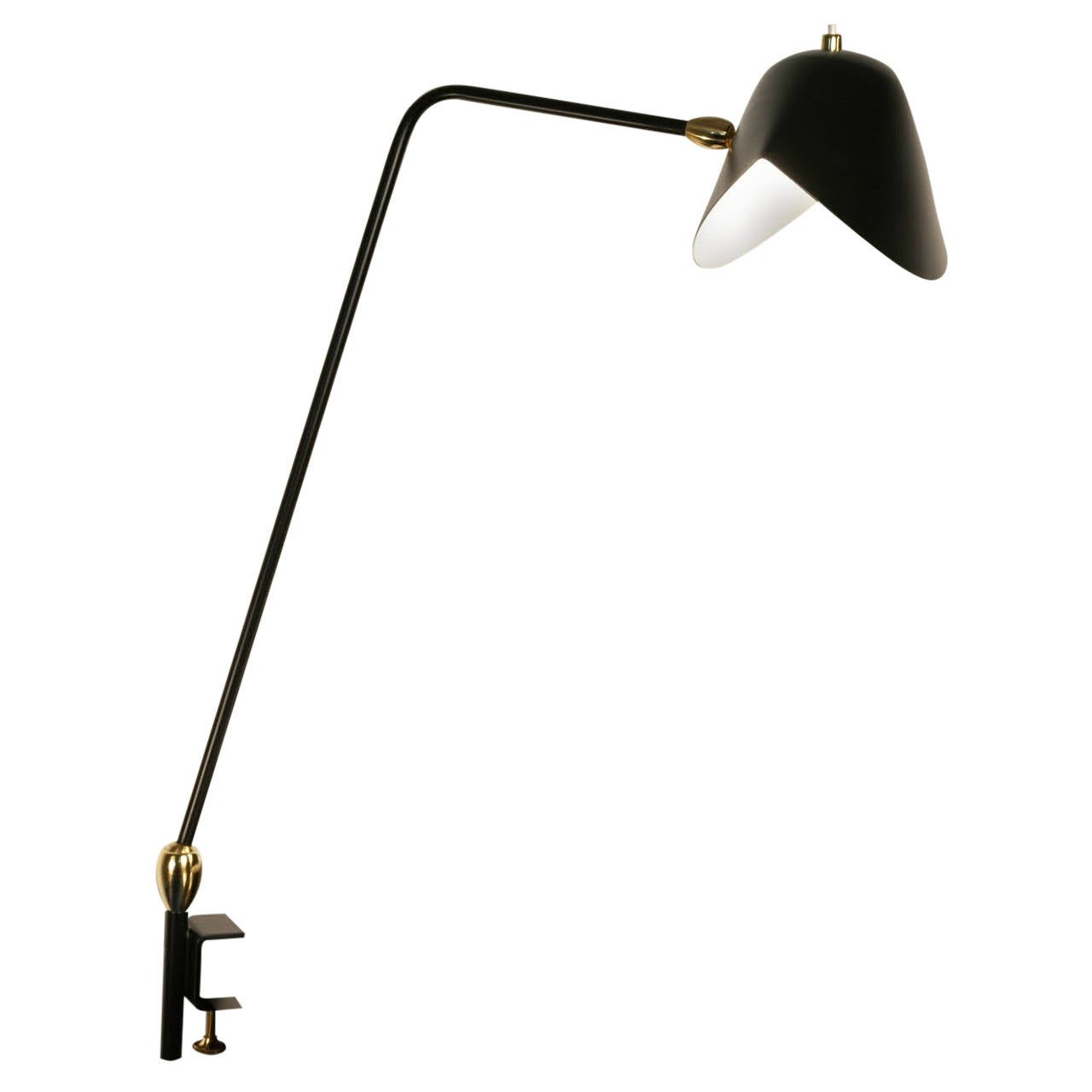 Agrafee Desk Lamp, Double Swivel, by Serge Mouille