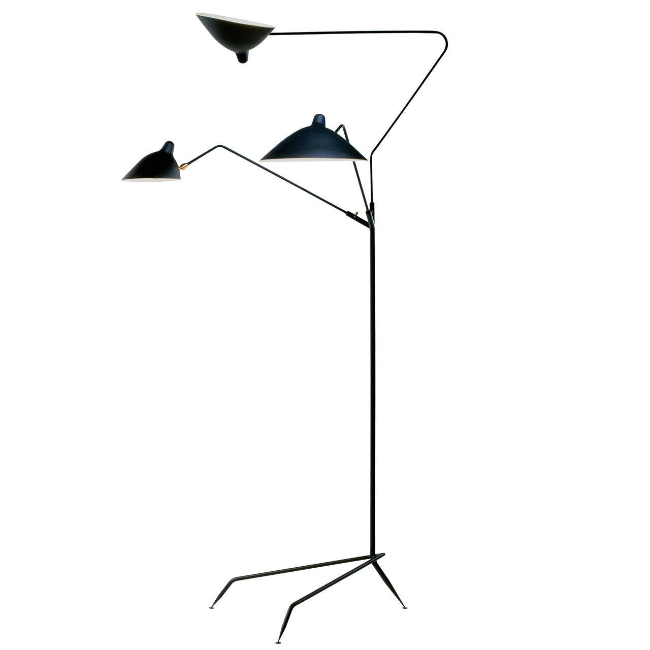 Design Serge Mouille standing lamp with three arms by serge mouille at 1stdibs 1