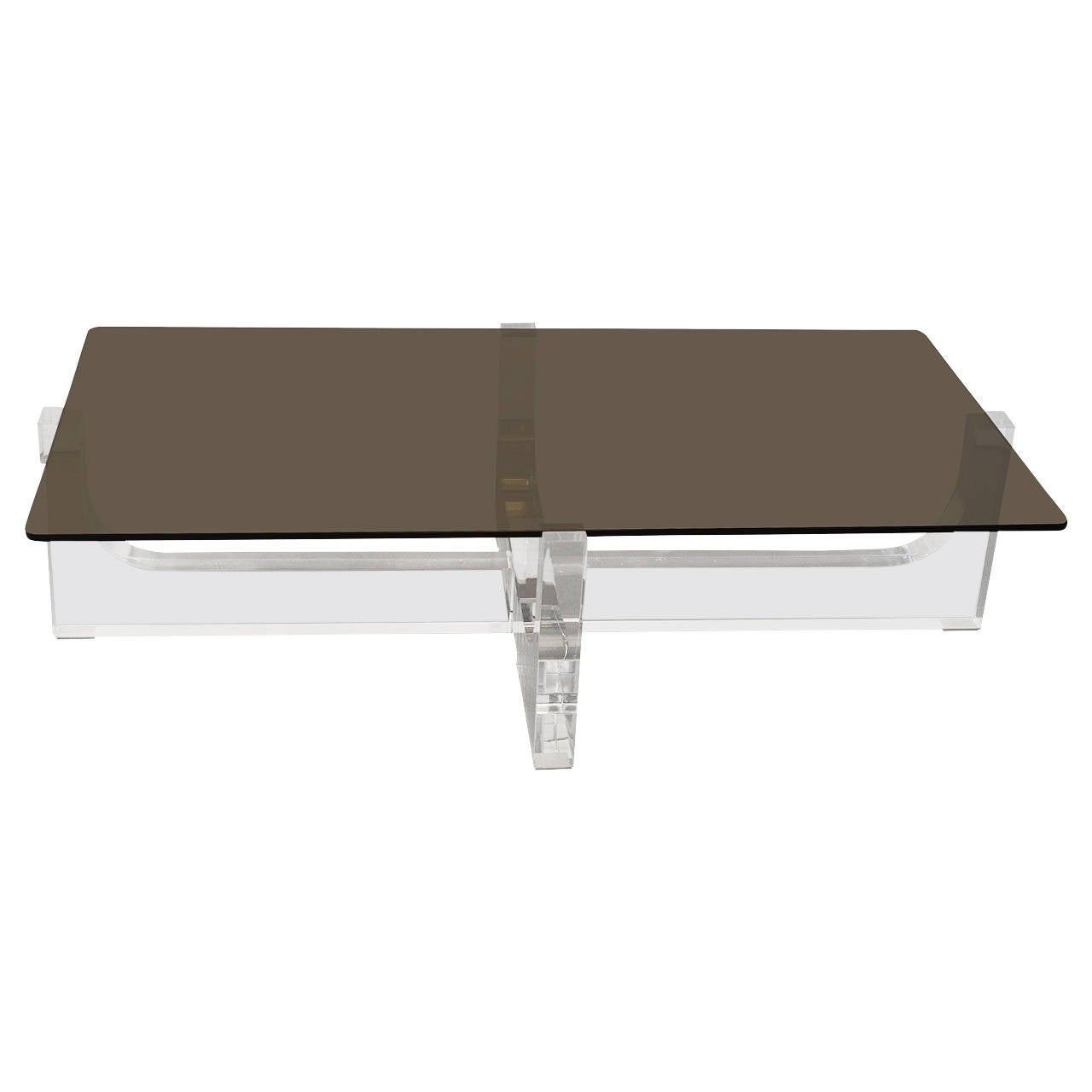 Lucite base coffee table with glass top at 1stdibs Glass coffee table base