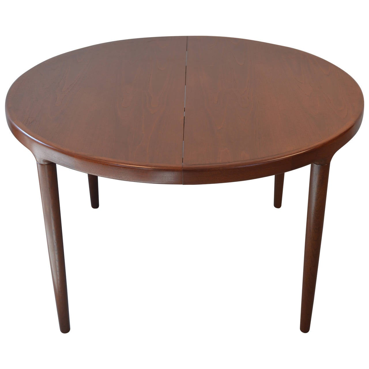 Round dining table with two leaves for sale at 1stdibs for Round dining table