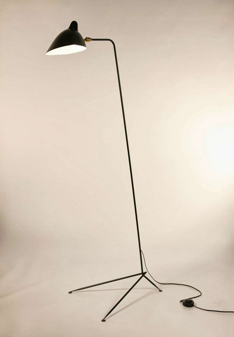 pin serge mouille one arm floor lamp on pinterest. Black Bedroom Furniture Sets. Home Design Ideas