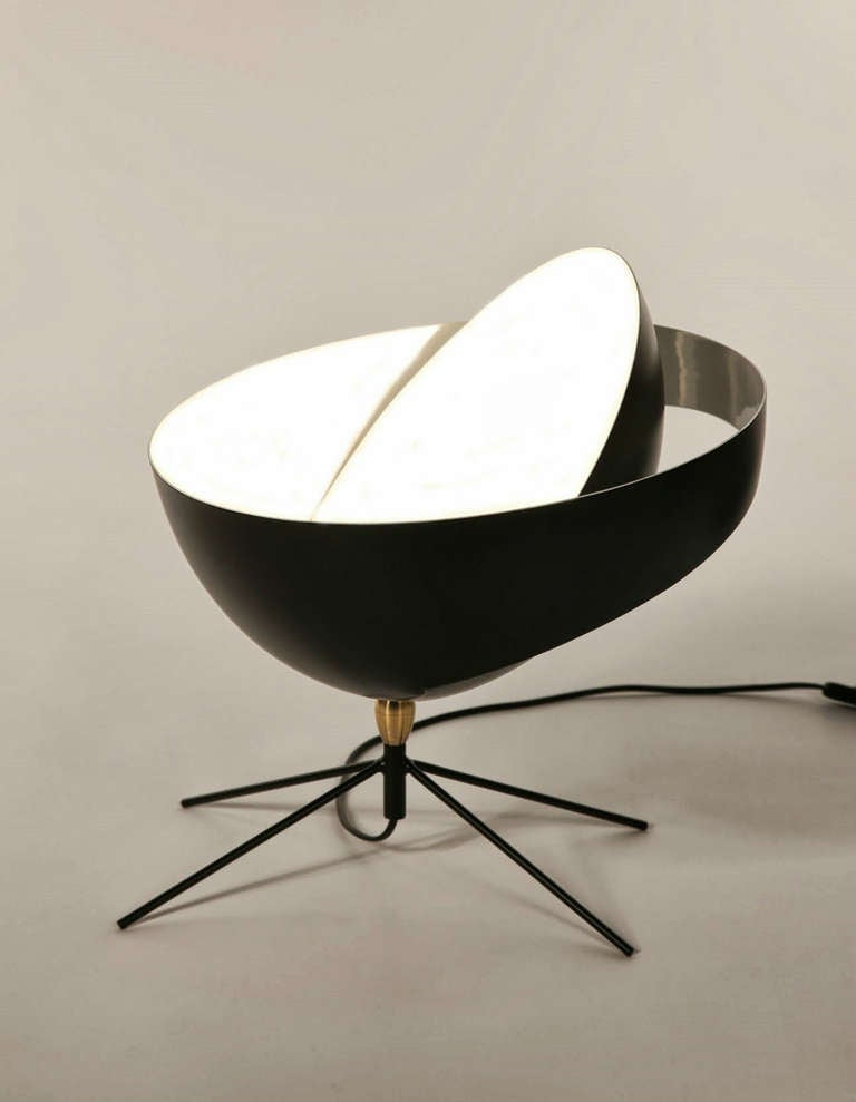 saturne desk lamp by serge mouille at 1stdibs. Black Bedroom Furniture Sets. Home Design Ideas