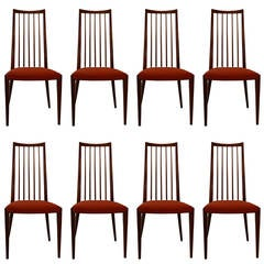 Set of Eight Danish Rosewood Chairs