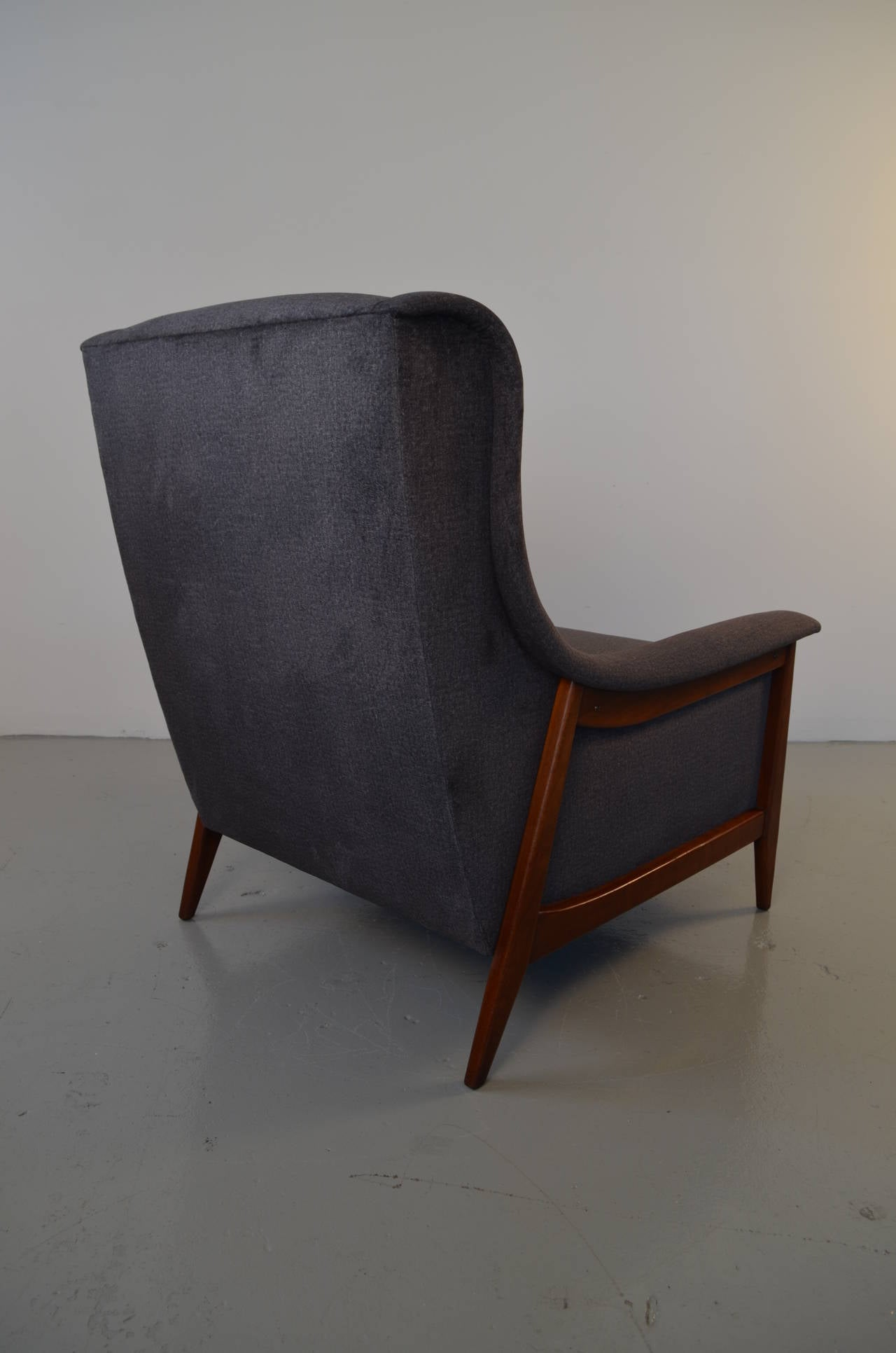 Danish Lounge Chair with Ottoman at 1stdibs
