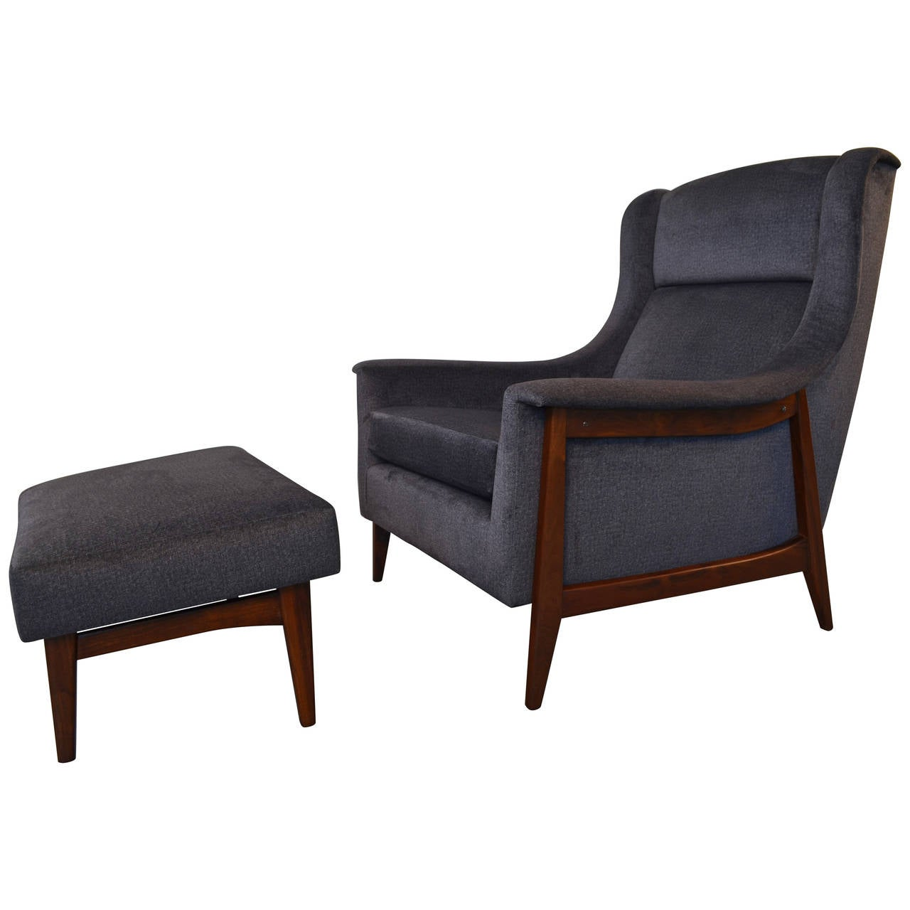 Danish Lounge Chair with Ottoman at 1stdibs