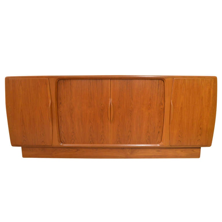 Danish Sideboard with Central Tambour Doors