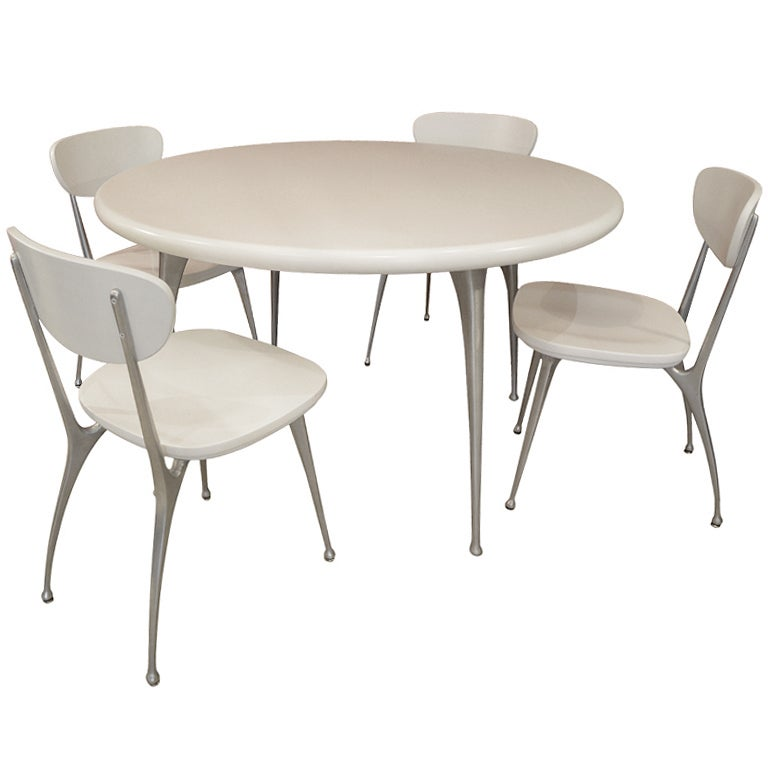 Gazelle Dining Table And 4 Chairs By Shelby Williams At