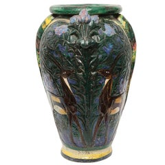 Monumental French 1920s Ceramic Vase