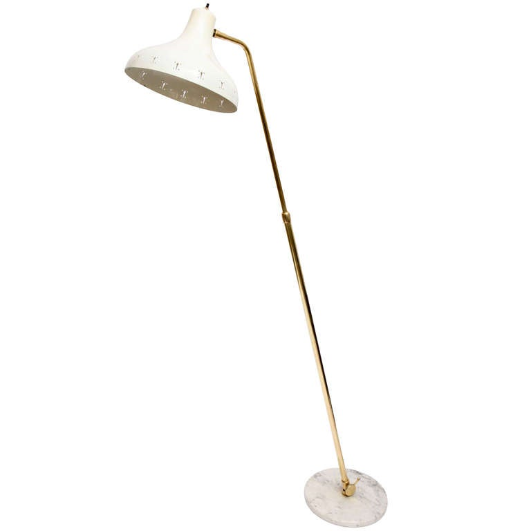 A 1950's Italian Articulated Floor Lamp Attributed To Oluce at 1stdibs