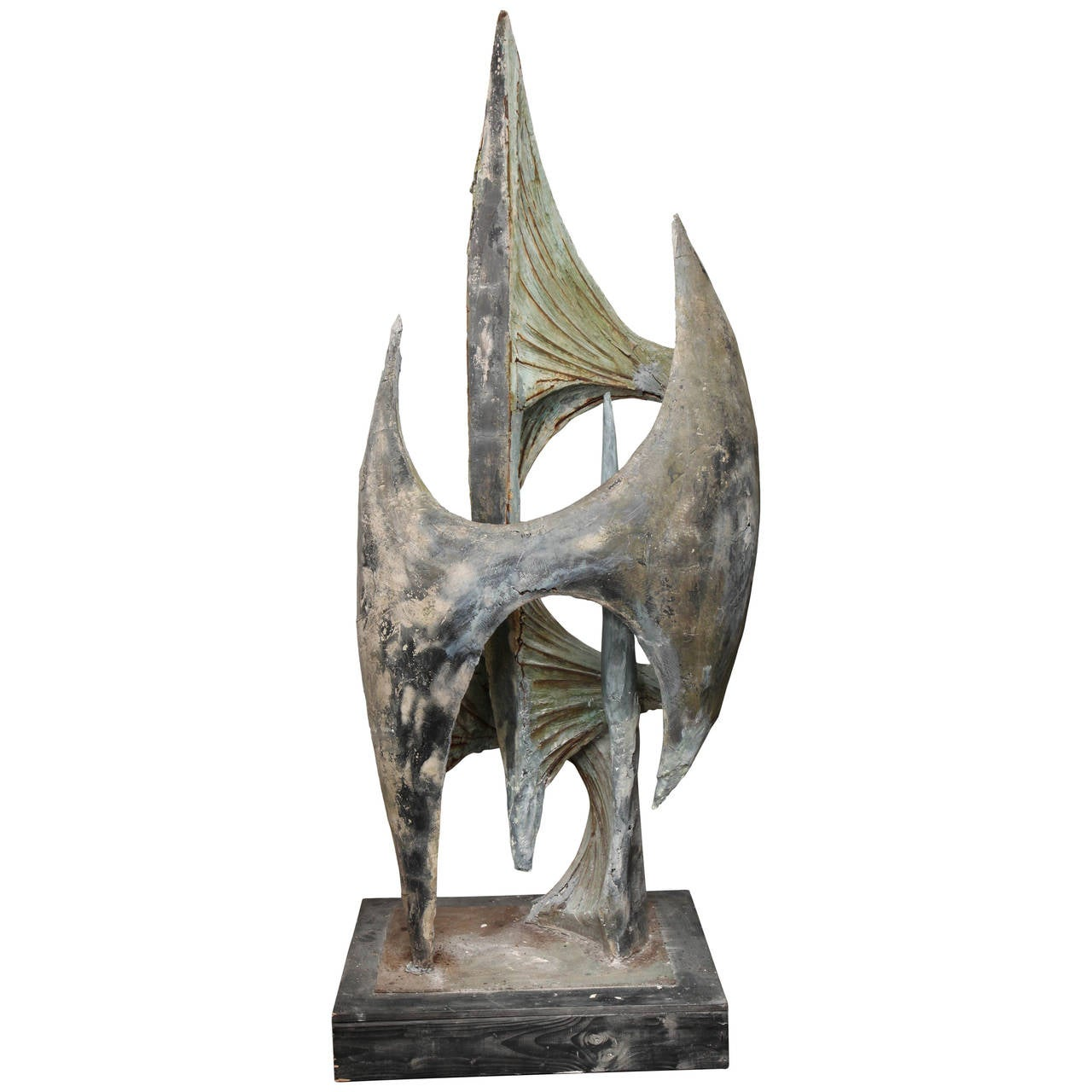 Monumental Abstract Modernist Surrealist Sculpture Signed J Segura, 1969