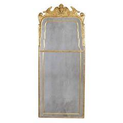 Fine and Rare George I Giltwood Mirror