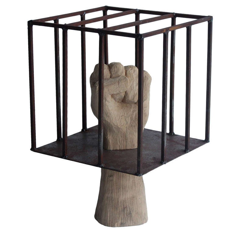 "Contemporary Sculpture "" Hand In The Cage "" 1"