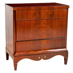Antique Danish Empire Small Chest of Drawers in Mahogany, circa 1810