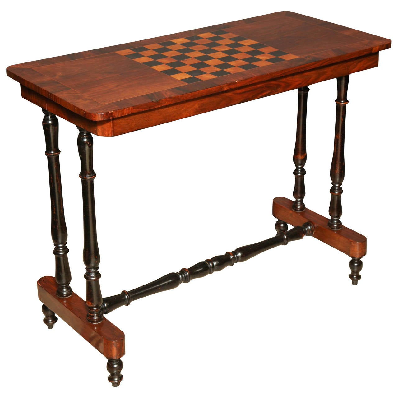 Regency Rosewood Trestle End or Game Table