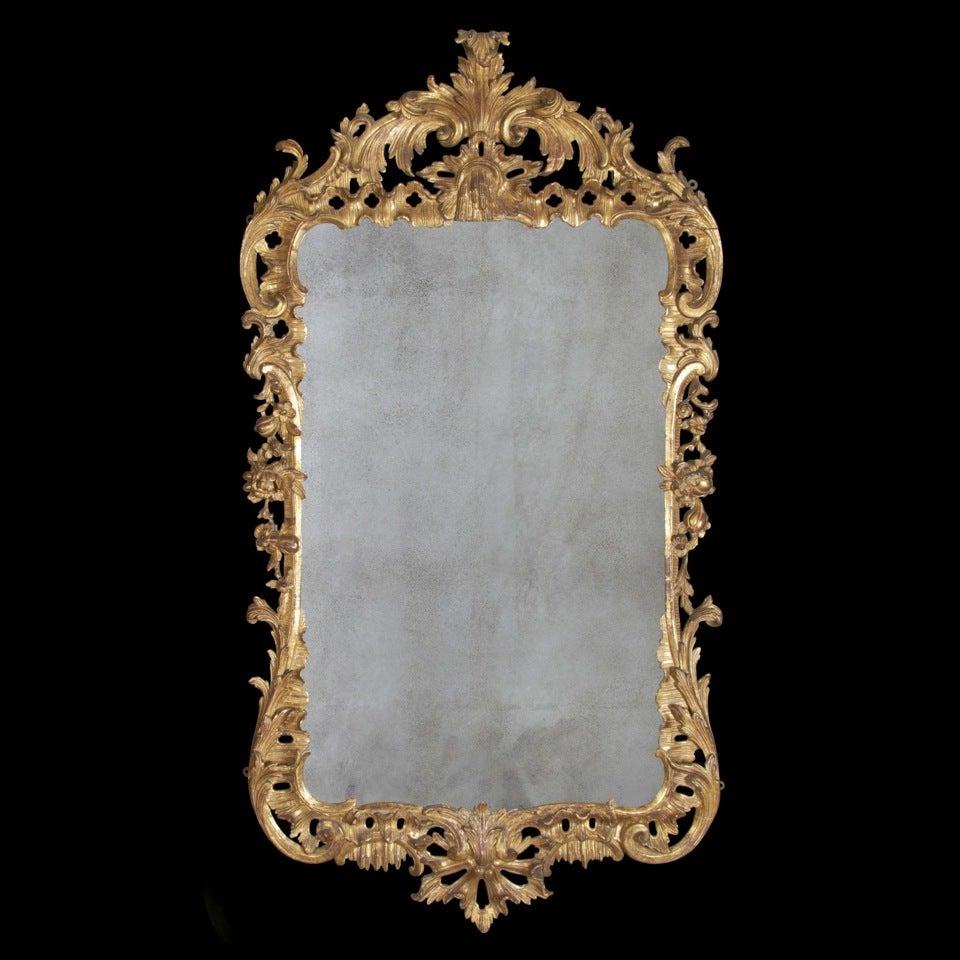 George II Giltwood Mirror, circa 1750 For Sale 2