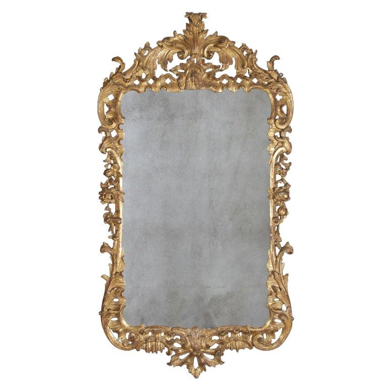 George II Giltwood Mirror, circa 1750 For Sale