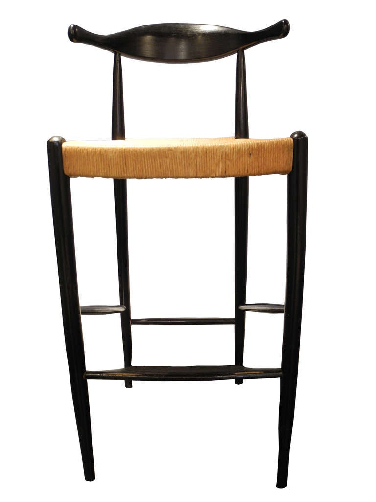 Three Mid Century Vintage Bar Stools At 1stdibs