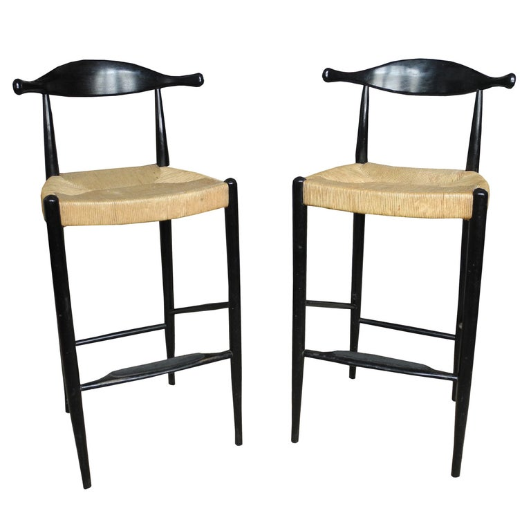 Enjoyable Mid Century Ox Bow Tall Bar Stools For Sale At 1Stdibs Machost Co Dining Chair Design Ideas Machostcouk