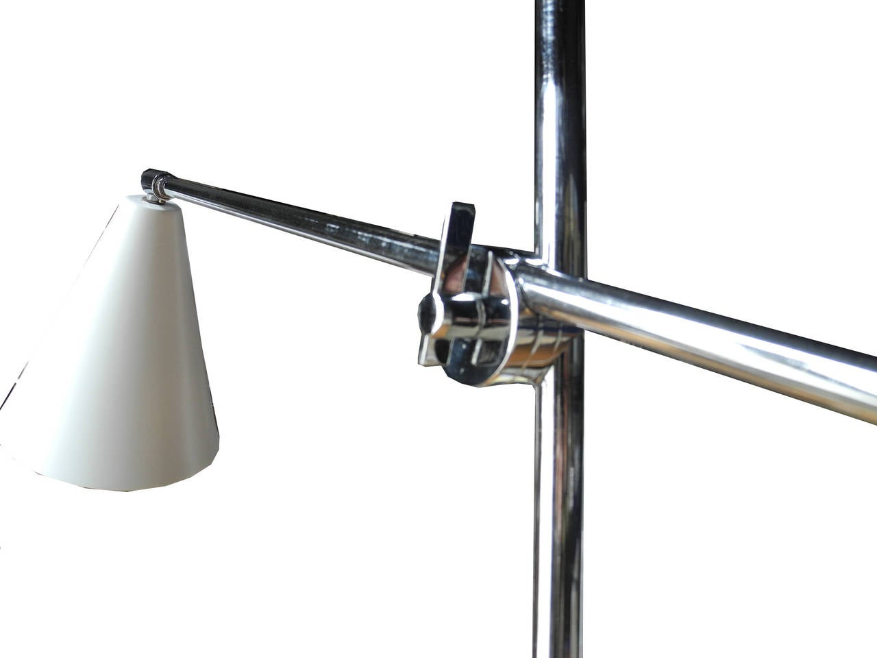 Modern Italian One-Arm Tripod Floor Lamp for Arteluce in the Style of Sarfatti In Good Condition For Sale In Hudson, NY