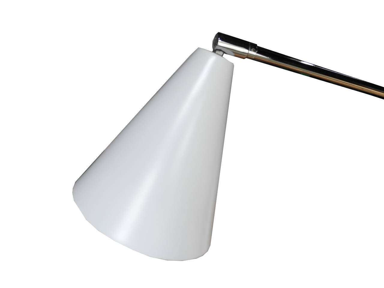 Aluminum Modern Italian One-Arm Tripod Floor Lamp for Arteluce in the Style of Sarfatti For Sale
