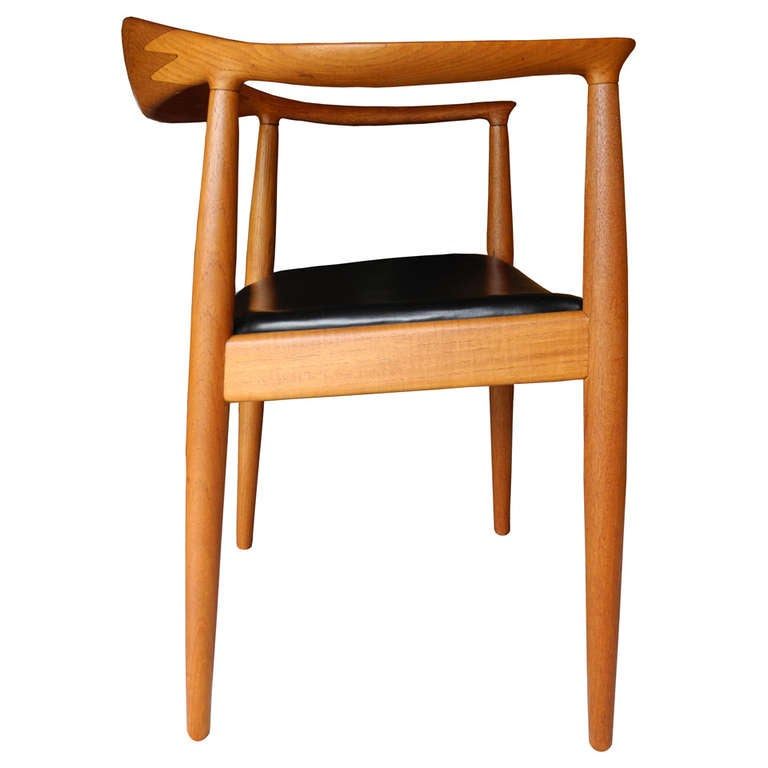 Pair Of Hans Wegner Chairs For Johannes Hansen At 1stdibs