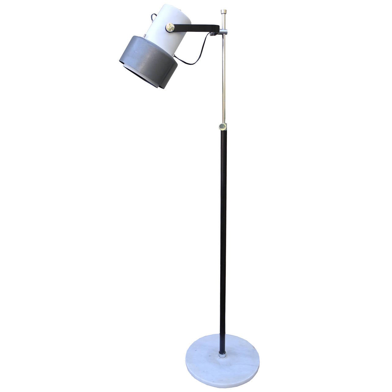 Modern Italian Marble and Spun Metal Floor Lamp in the Style of ...