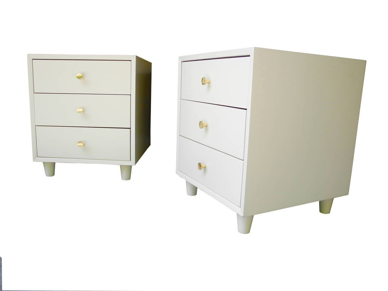 Pair Of Morris Sanders For Mengel Module Night Stands At 1stdibs