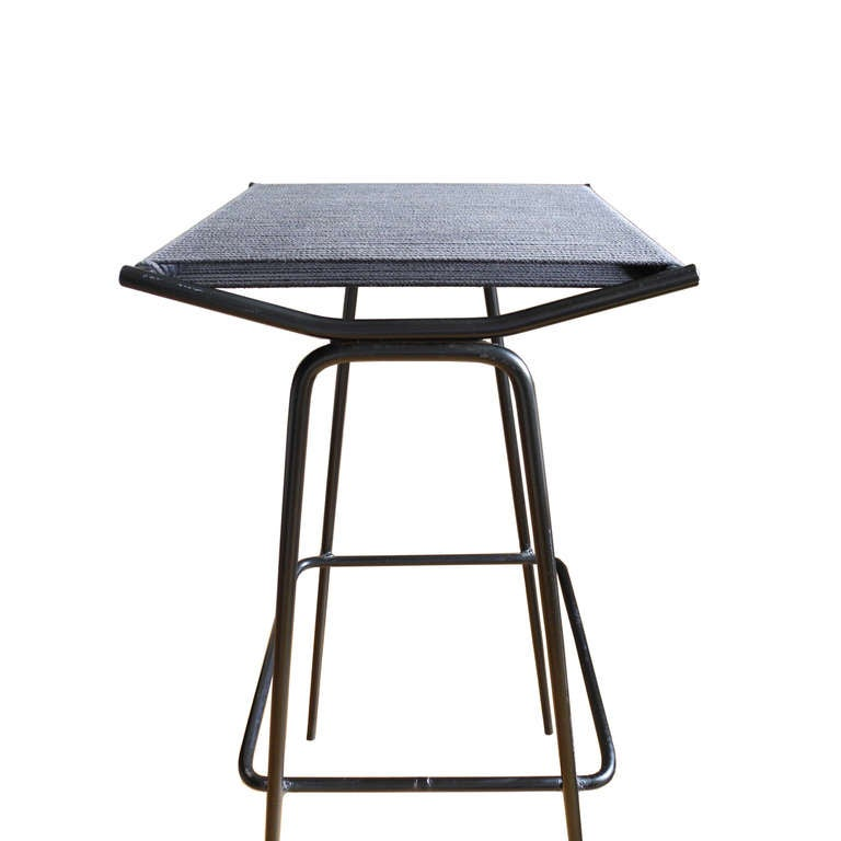 Ultra Modern Bar Stools With String Seats Designed By
