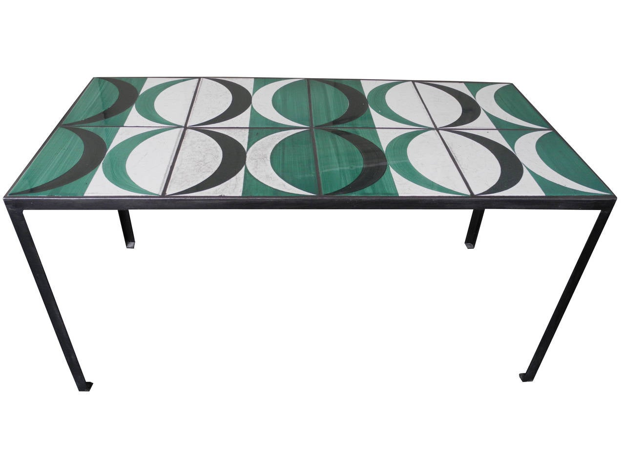 Modern Coffee Table Side Table With Original Gio Ponti Tiles Italy At 1stdibs