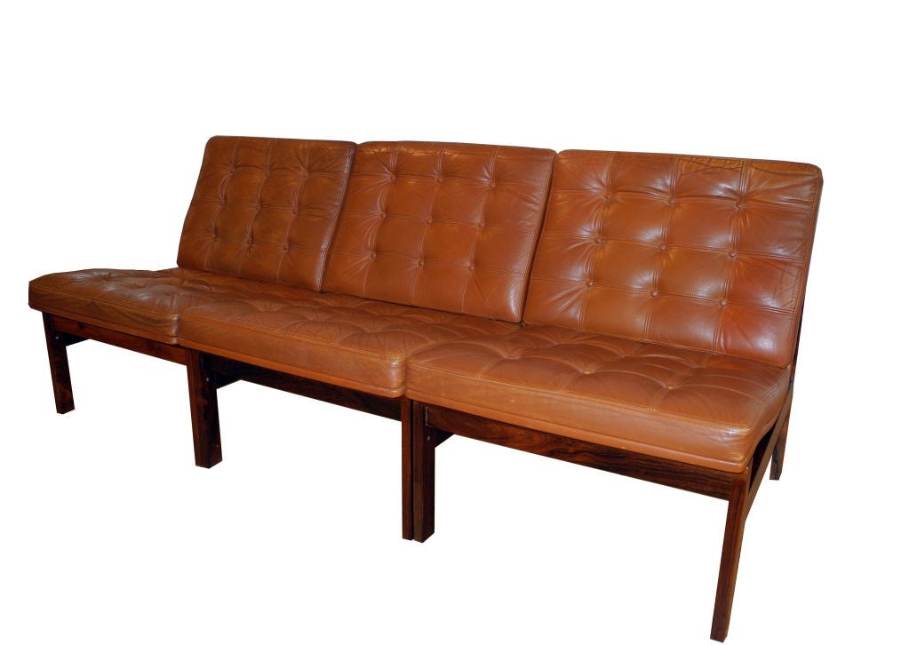 Three Seat Sofa By Lind And Gjerlou Knudsen At 1stdibs