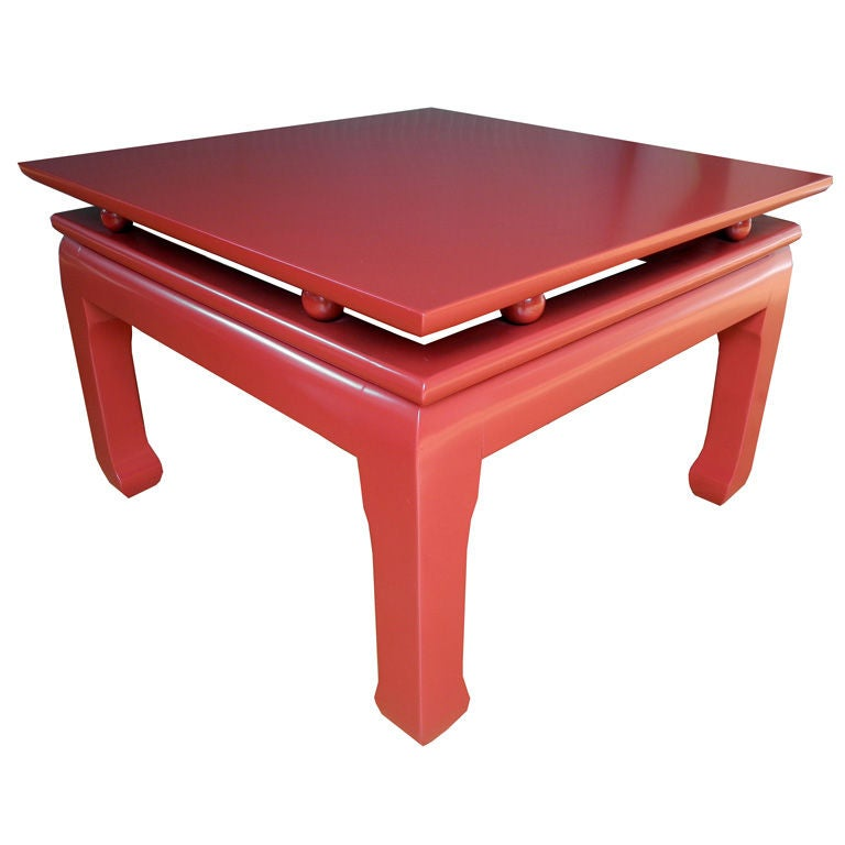 Asian Style Cinnabar Coffee Table At 1stdibs