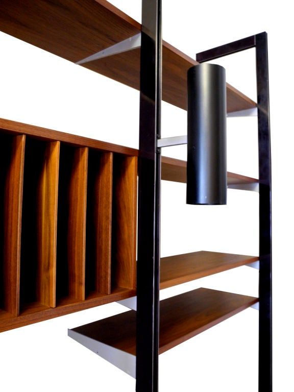 Walnut George Nelson for Herman Miller CSS Wall Unit For Sale