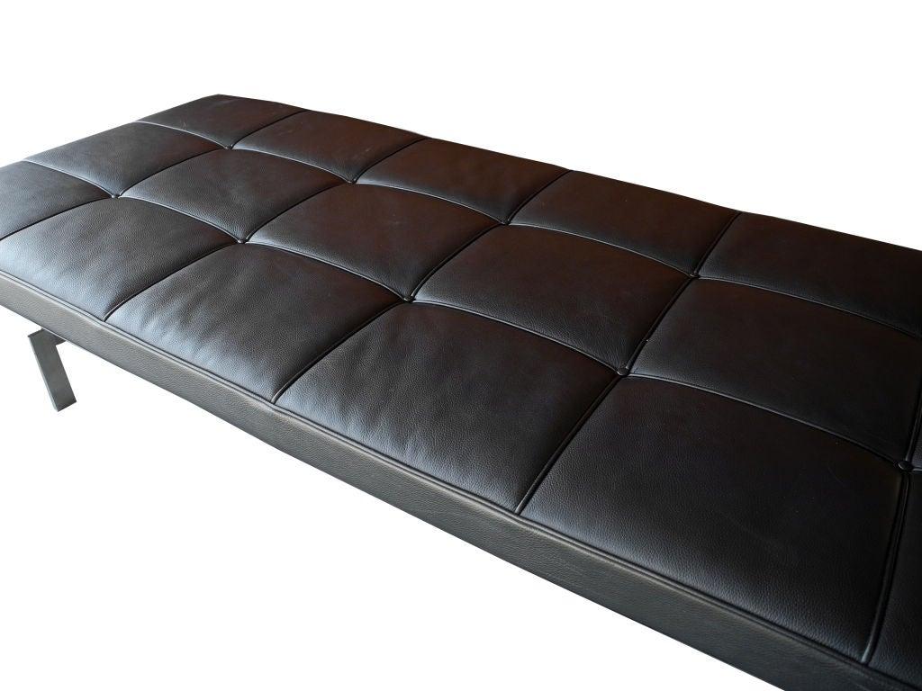 Black Leather Daybed Bench By Poul Kjaerholm For Fritz Hansen At 1stdibs