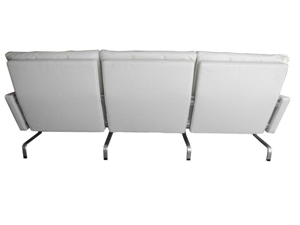 PK31 White Leather Sofa by Poul Kjærholm for Fritz Hansen 4