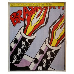 Four Color Offset Lithograph by Pop Artist Roy Lichtenstein, 1964