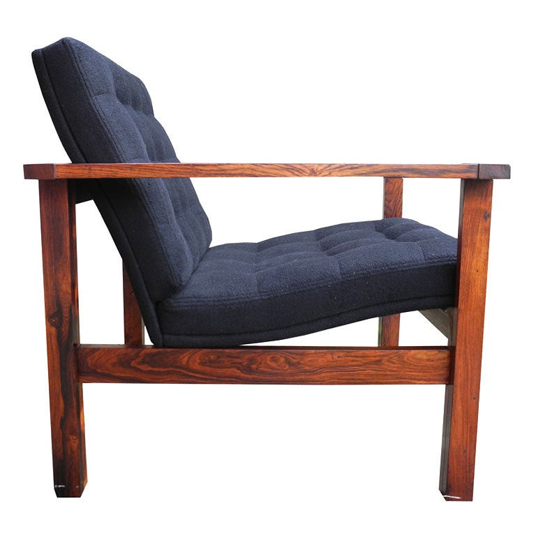 Danish modern rosewood single lounge chair by lind and for Single lounge chairs for sale