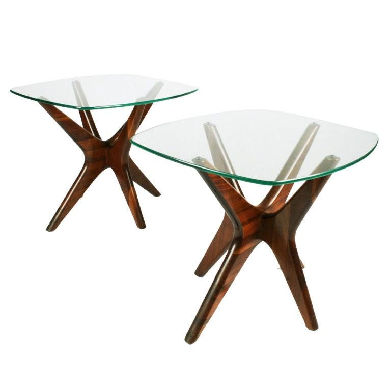 Pair of walnut jacks lamp tables by adrian pearsall for sale at pair of walnut jacks lamp tables by adrian pearsall aloadofball Images