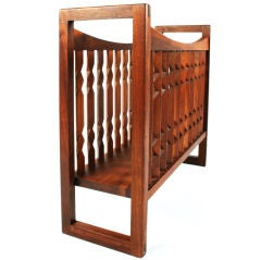 "Wooden ""Crib"" Magazine Stand by Drexel"