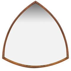 Danish Triangular Rosewood Mirror