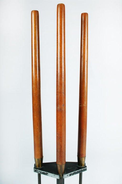 American Long Walnut Handled Firetools by Seymor Manufacturing Company For Sale