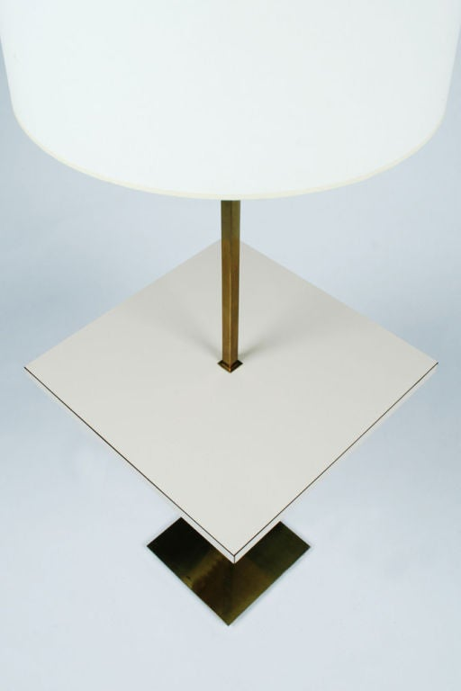 American Polished Brass Table Floor Lamp by Stewart Ross James for Hansen Lamps For Sale