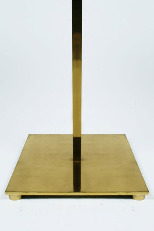 Laminated Polished Brass Table Floor Lamp by Stewart Ross James for Hansen Lamps For Sale