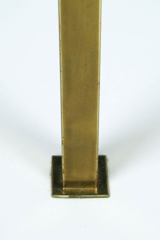 Polished Brass Table Floor Lamp by Stewart Ross James for Hansen Lamps In Excellent Condition For Sale In New York, NY