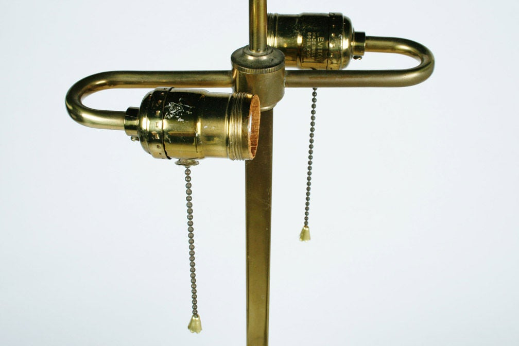 Mid-20th Century Polished Brass Table Floor Lamp by Stewart Ross James for Hansen Lamps For Sale