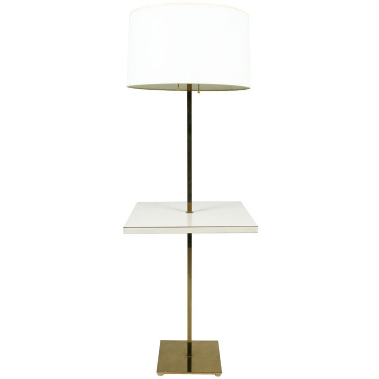 Polished Brass Table Floor Lamp by Stewart Ross James for Hansen Lamps For Sale