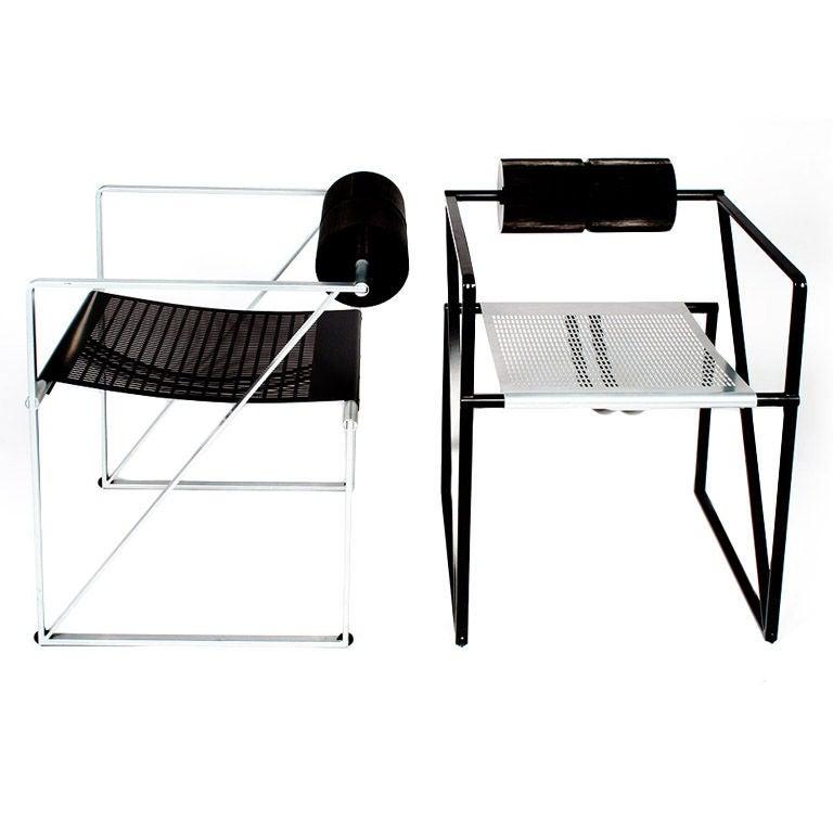 Pair of 'Seconda 602' Armchairs by Mario Botta