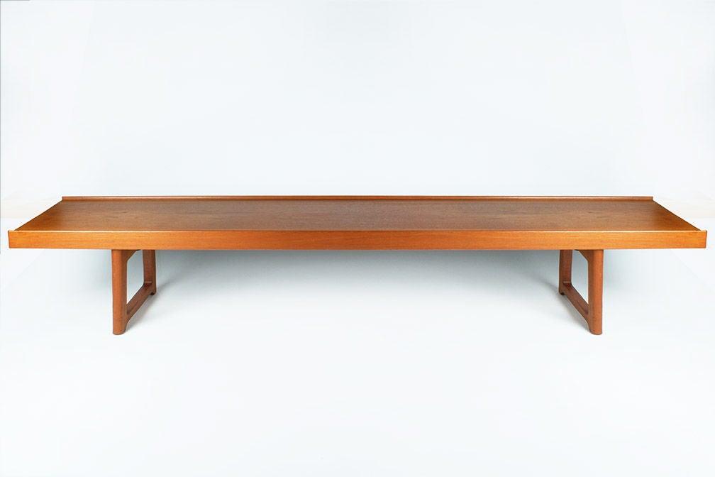 Long Low Teak Plank Bench By Torbj Rn Afdal For Bruksbo At 1stdibs